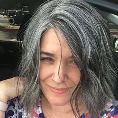 I did it... after two years I have completed my transition. #virginhair #grombre #chopped #letitgo #nofilter #gonegrey #naturalhair #silverhair #youngandgrey #ditchthedye #embracethegrey #beyoutiful