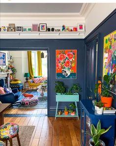 Home Living Room, Living Room Designs, Living Room Decor, Bedroom Decor, Living Room Inspiration, Home Decor Inspiration, Deco Cool, Colourful Living Room, Home And Deco