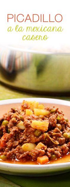 El picadillo a la mexicana es un delicioso platillo que se puede hacer ...