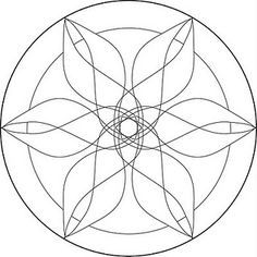 Free Mandala Templates would have to simplify a few of the lines to make stained glass but cool idea Mandala Art