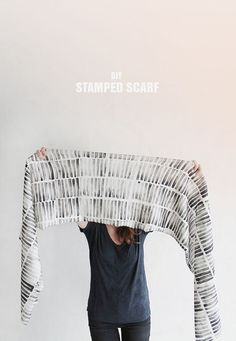 diy stamped scarf | almost makes perfect (also great stamp making instructions)