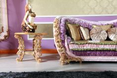 living room- side table and sofa Royal Furniture, Luxury Home Furniture, Classic Furniture, Bed Furniture, Sofa Chair, Couch, Love Seat, Dining Chairs, House Design