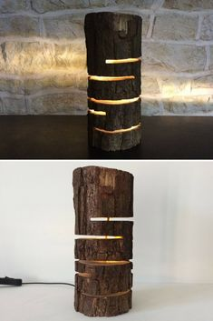 Design Wood Log Lamp Design Wood Log Lamp - Table Lamps, Wood Lamps - Many lights are made to give o Lamp Design, Wood Design, Design Table, Lampe Edison, Diy Table, Lamp Table, Desk Lamp, Wood Logs, Contemporary Table Lamps