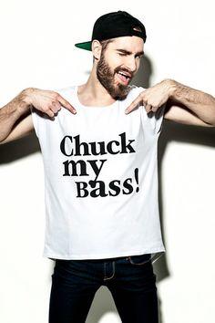 "Shirt mit Spruch ""Chuck my Bass"" // shirt with typo by Seh/s a Riot via DaWanda.com"