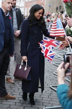 Meghan Markle's Bag Might've Broken Royal Protocol Today - HarpersBAZAAR.com