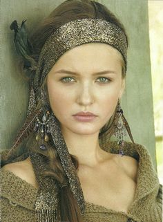 Ralph Lauren. She looks warm summer to me. Cool lip tone and soft eyes. Gypsy.