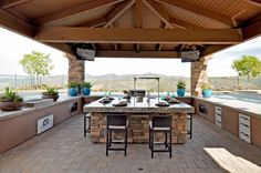 Perfect for a desert home! We like this Toll Brothers - Gazebo Over Sunken Kitchen