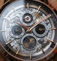 Montblanc Heritage Spirit Perpetual Calendar Skeleton Sapphire Dial Watch Hands-On
