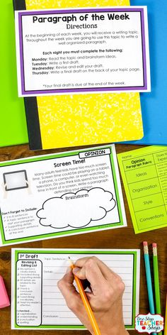 Paragraph of the Week is the perfect way to teach, practice, and master Paragraph Writing (Paragraph Structure). 60 Writing Prompts, Writing Rubrics, Revising and Editing Checklists, and Drafting Pages...all Editable. | 5th Grade Writing | 6th Grade Writing | 4th Grade Writing | 3rd Grade Writing