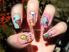 Classic Winnie The Pooh And Friends Nails by jeealee.deviantart.com on @deviantART