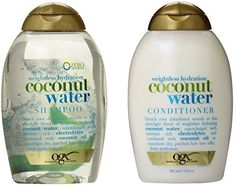OGX Weightless Hydration Coconut Water Shampoo  Conditioner 13 Ounce Combo Set *** Visit the image link more details. Note:It is affiliate link to Amazon.