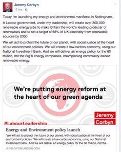 Attualità: #Jeremy #Corbyn #lancia il suo manifesto ambientale ed energetico (link: http://ift.tt/2cECuaq )