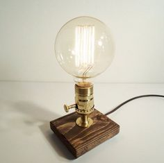 Vintage light Table lamp Brass lamp Steampunk lamp by UrbanEdison