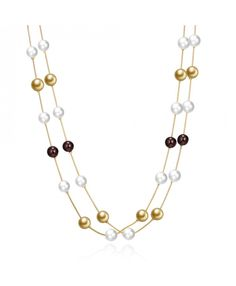 Buy Hot Sle Gold Plated Chain Necklace Jewelry Multicolor Beads