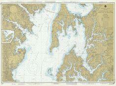 Chesapeake Bay Eastern Bay & South River Historical Map - 1978