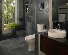 20 Gorgeous Small Bathrooms to Inspire Your Reno: Small Bathroom Ideas - Frameless Shower?