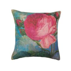 Always in bloom and always in style, this gorgeous pillow will amplify the beauty of your space. The bright pink, blue and deep green color scheme, along with t