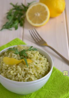risotto limone e rucola