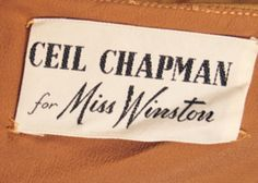 Ceil Chapman for Miss Winston