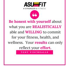 Be honest with yourself about what you are REALISTICALLY able and WILLING to commit for your fitness, health, and wellness.  Your RESULTS can only be a reflection of your EFFORT.    You can not and you WILL not get what you do not WORK for.    What are you going to do AFTER the 21-Day Fix?    What are you going to do AFTER that 30-Day Challenge?    What are you going to do AFTER that 90-Day Reset?    If you don't change your mentality and your mindset about food, about your fitness, about…
