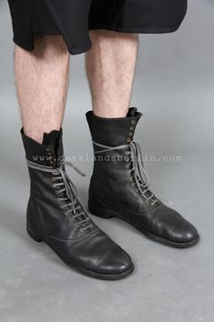 Guidi Classic lace up mid-calf boot | Products | Darklands Berlin