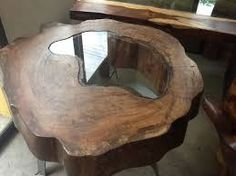 Resultado de imagen para mesas de centro tronco arbol