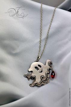 """Купить Кулон """"Маленькое Привидение"""" из мельхиора - серебряный, мельхиор, привидение, фигурка, подвеска, на шею, амулет"""