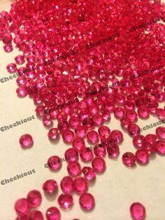 2000 Fuchsia Acrylic Diamond Confetti 4.5mm for Wedding Decoration Table Scatter   Home & Garden, Wedding Supplies, Venue Decorations   eBay!