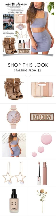 """""""Abbi Elegant 2 Pc Set"""" by trulo9ve ❤ liked on Polyvore featuring LC Lauren Conrad, Olivia Burton, Topshop, Maybelline and Bobbi Brown Cosmetics"""