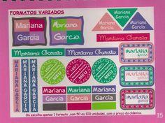 Etiquetas em vinyl especial resistente à microondas e lava-louças. www.cibordados.com.br/Claudia