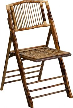 Add style and substance to your extra seating with the American Champion Bamboo Folding Chair from Flash Furniture. This stunning chair features an eye-catching design that does not need to be covered to be beautiful, while also folding for extra storage. Outdoor Chairs, Dining Chairs, Outdoor Furniture, Outdoor Decor, Bamboo Chairs, Living Furniture, Wedding Furniture, Camping Furniture, Wooden Chairs