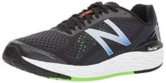 New Balance Men's Vongo V2, Black/Lime, 11 2E US New Balance