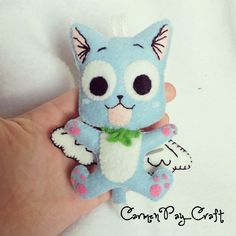 Happy from Fairy Tail by CarmenPay_Craft (Click for tutorial)