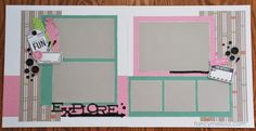 Lollydoodle Explore Scrapbook Layout www.fancymelissa.com #cricut #artbooking #artiste #feathers #2-page