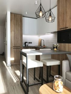 13 Minimalist Kitchen Ideas For A Modern House. Small Kitchen Suggestions and al. 13 Minimalist Kitchen Ideas For A Modern House. Small Kitchen Suggestions and also Styles. Kitchen Design Small, Kitchen Remodel Small, Kitchen Design, Apartment Design, Kitchen Interior, Minimalist Kitchen, Small Modern Kitchens, Apartment Kitchen, Modern Kitchen Design