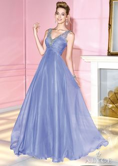 Alyce Prom 6284 - Purple Beaded Chiffon Prom Dresses Online
