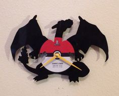 Vinyl Record Clocks with Video Game Characters #Pokemon