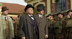 """Richard Syms in the role of Winston Churchill in the television drama """"A Bullet for Heydrich"""".  http://taylor-film.com/bullet-heydrich/  #Richard Syms #Winston Churchill #A Bullet for Heydrich"""