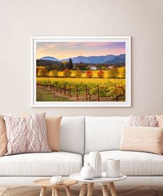 Excited to share this item from my #etsy shop: Wine Country Print, Napa Valley Photo, California Wine Country, Napa Autumn Canvas, Wine Vineyard, Gallery Wrap, Winery, Large Wall Decor
