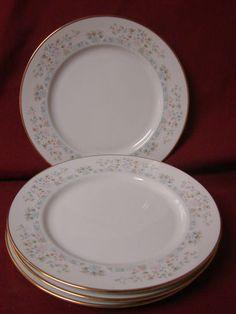 Lenox China Dinnerware Bouquet Collection ,Daisy Basket set 4 Salad plate