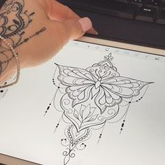78a8b255d598d #butterfly 🦋 Butterfly Mandala Tattoo, Mandala Sternum Tattoo, Underboob  Tattoo, Makeup Tattoos