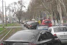 В Одессе сравнении с летними месяцами возросло количество пробок.