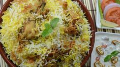 Chicken Biryani Restaurant Style - By VahChef @ VahRehVah.com.   I have made a similar version called Hyderabadi biriyani also from van chef.  Sanjay Thumma is purely entertaining and wonderful to watch.  This is indian comfort food. <3