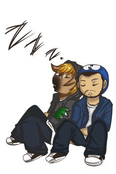 Nova and Sp00n: fanart. :) I thought this was so cute :P sleep well you two.