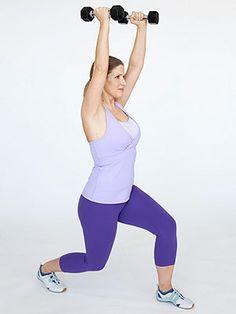 Bridal Boot Camp: The Workout - Lunge Shoulder Press