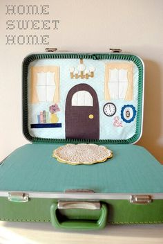 Travel doll suitcase...maybe in a lunchbox?