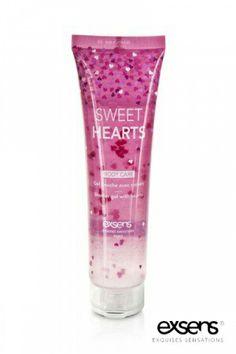 Gel douche avec petits coeurs - Sweet Hearts - 100 ml - Exsens Hygiene, Body Care, Shot Glass, Sweet Hearts, Couple, Html, Shower Gel, Cosmetics, The Body