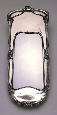 Art Nouveau mirror, by Hector Guimard (France, Silvered brass and mirrored glass Art Deco Spiegel, Hector Guimard, Art Deco Mirror, Mirror Mirror, Jugendstil Design, Art Nouveau Furniture, Vintage Mirrors, Art Nouveau Architecture, Art Nouveau Design
