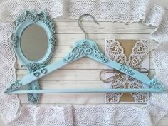 This vintage Custom Bride hanger made in Rustic style is just gorgeous. Victorian Wedding dress hanger is Custom Personalized for Bridal or Bridesmaid. Custom made to order On a peg I will write your name and date of your wedding. Write to me about it and I will execute your desire. Hanger also makes a stunning photo prop for the brides wedding dress and a unique and thoughtful bridal shower gift! Painted & distressed to look worn & vintage. A wedding hanger is done in style of Shabby chic. Bride Hanger, Wedding Dress Hanger, Shabby Chic Wedding Decor, Shabby Chic Frames, Vintage Bridal, Vintage Gifts, Thoughtful Bridal Shower Gifts, Shabby Chic Ornaments, Bridesmaid Hangers