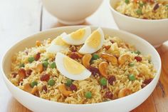 Indian spiced pilau rice - minus the eggs and it's vegan.  :)